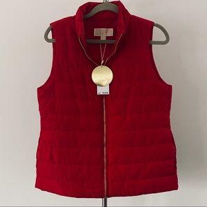 NWT Michael Kors 'Crimson' Red Puffer Vest